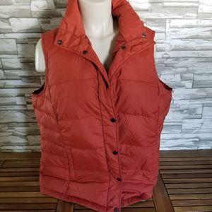 Womans Lands End xl puffy vest orange
